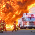 Photographing the Big Blaze - Macro Plastics container fire in Fairfield, CA