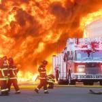 Photographing the Big Blaze - Macro Plastics container fire in Fairfield, CA