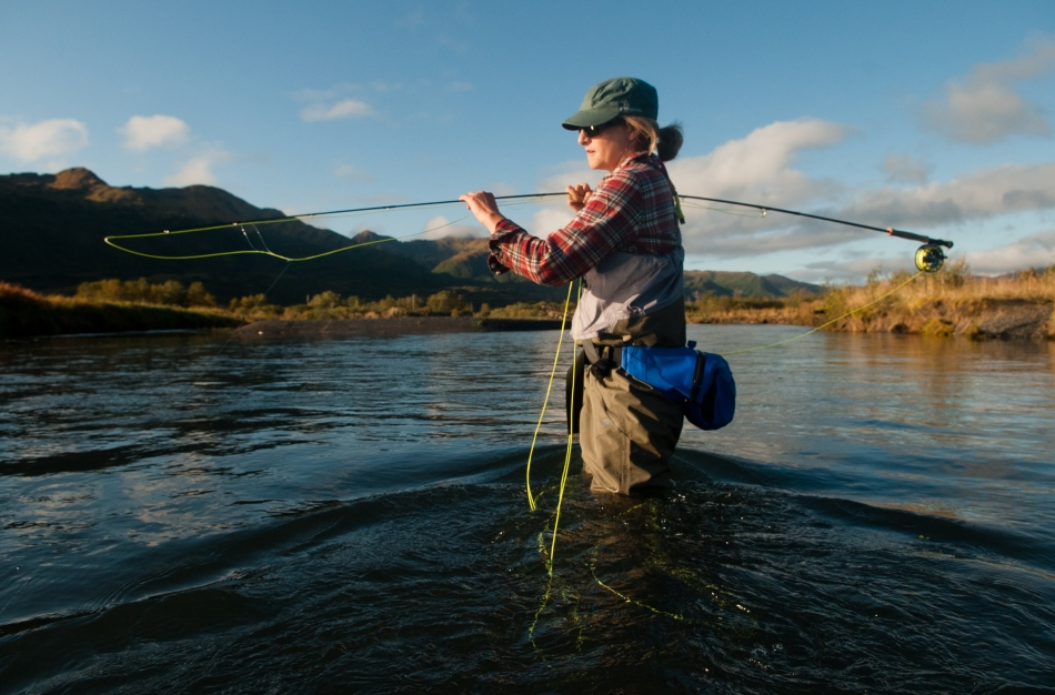 Fly fishing for coho salmon on kodiak island alaska for Kodiak island fishing