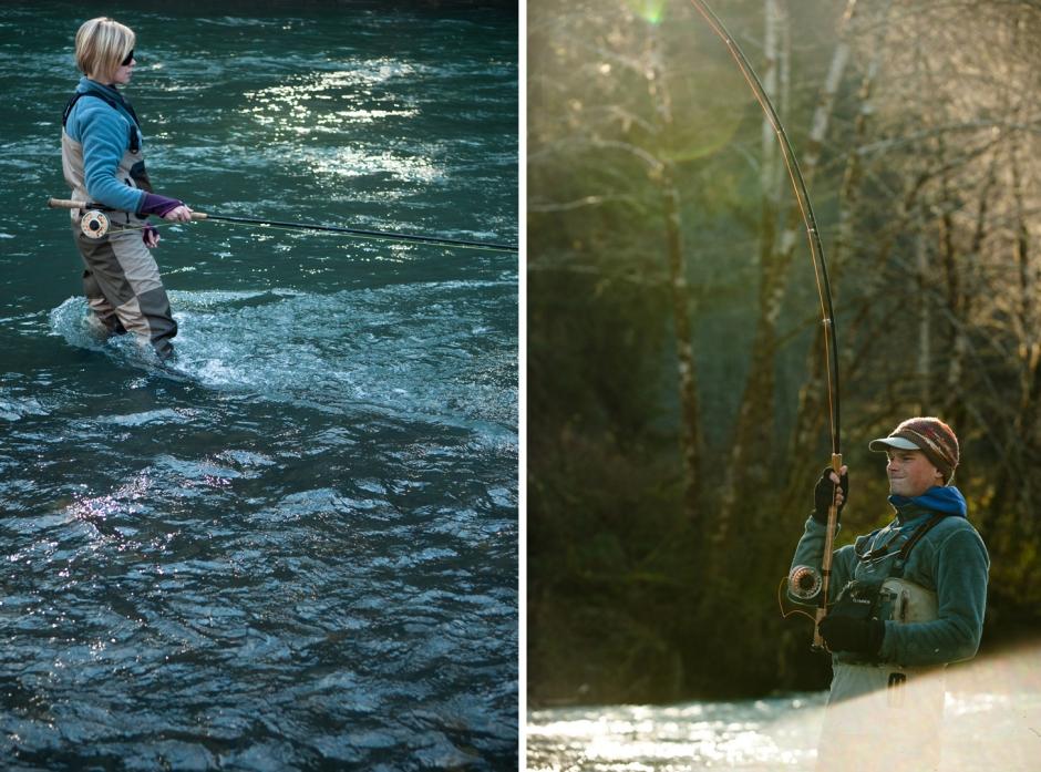 Steelhead fly fishing on the eel river and redwood creek for Steelhead fishing california