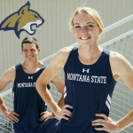 Mike Greener/Chronicle  Montana State University track and field athletes Jeff Mohl and Carley McCutchen will both be competing in the upcoming NCAA Track and Field Championships.