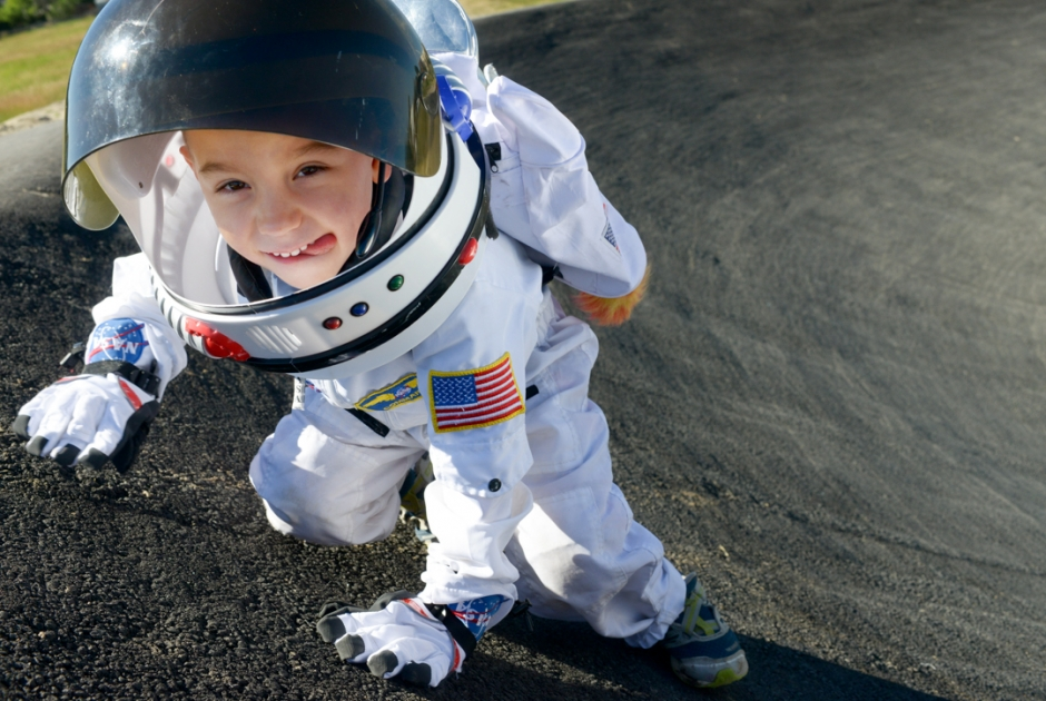 Mike Greener/Chronicle After posting a video to Youtube, space enthusiast Michael Dutkowsky, 4, of Bozeman, received a personal response from retired NASA astronaut Buzz Aldrin and since gained nation wide attention.