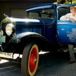 Mike Greener/Chronicle Bozeman local Denny Williams, 95, pictured here with his 1930 Plymouth Sedan Model U, plans to show of his prized antique car at the Cruisin' on Main car show this Sunday.
