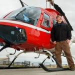 Mike Greener/Chronicle  Veteran helicopter pilot Mike Carisch, of Four Corners, has made a career out of flying for fire Helitack crews, search and rescue and helicopter aerial tours for the past 23 years.