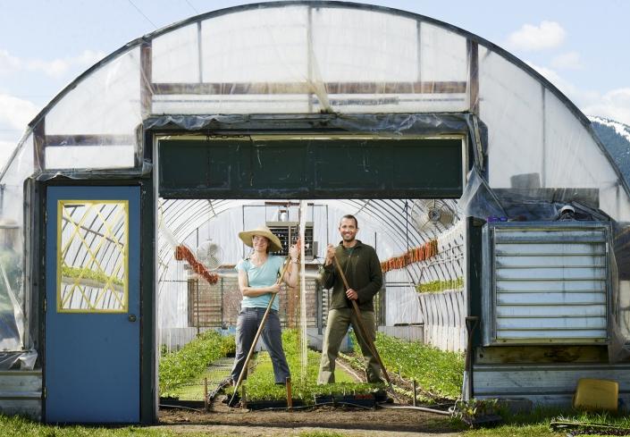 Bozeman Portrait Photography Gallatin Valley Botanical Farm farmer portrait
