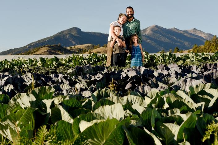 Bozeman Portrait Photography Gallatin Valley Botanical Farm Family